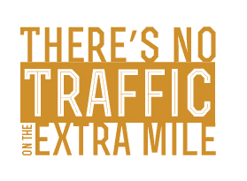 There's no traffic on the extra mile image
