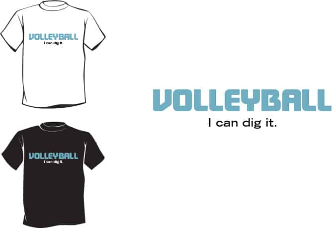 Volleyball Slogans t-shirts