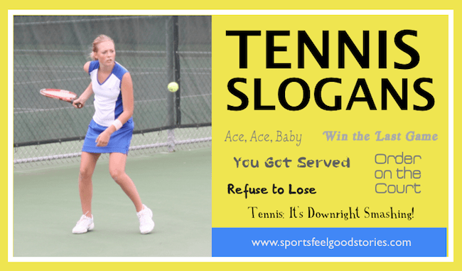 tennis slogans and sayings image