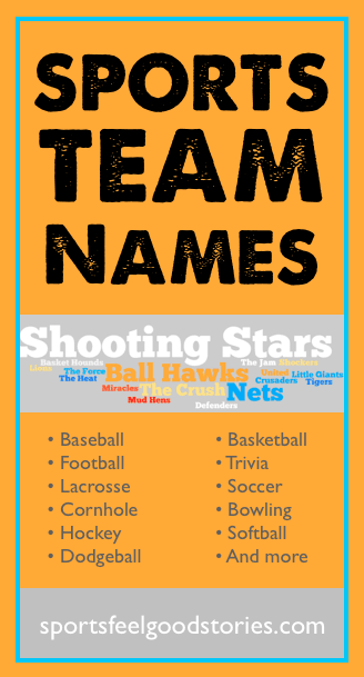 good sports team names image