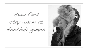 dressing warm for football