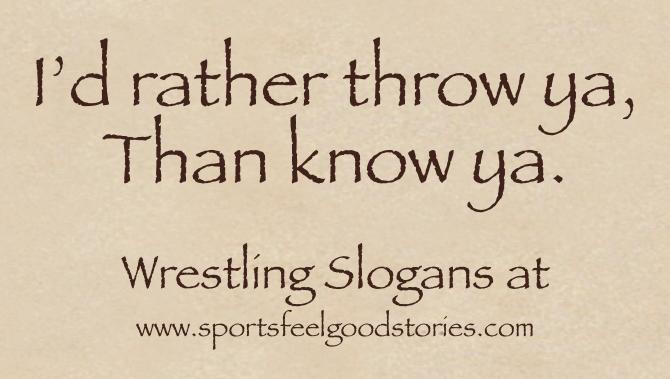Wrestling Slogans image