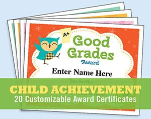 kids certificates achievement image