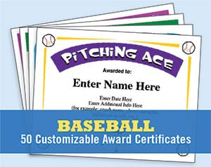 Baseball Certificates Templates