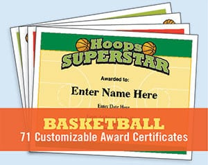 basketball certificates image