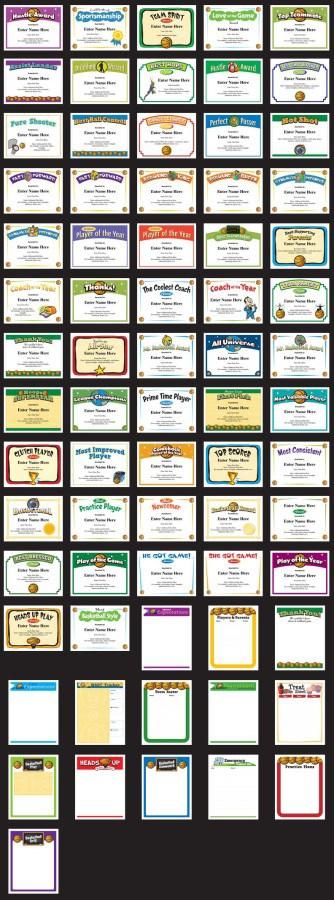 Basketball Awards Certificates Templates