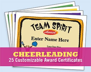 cheerleading certificates templates image