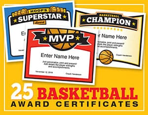 Sports certificates templates to create awards sports feel good elite basketball certificate templates button yadclub Image collections
