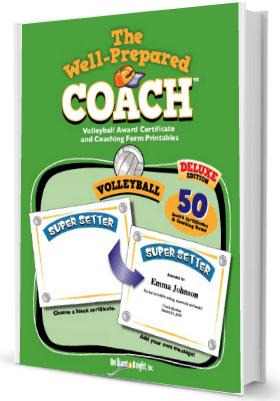 Volleyball certificate maker