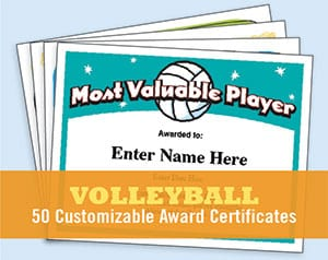 volleyball certificates image