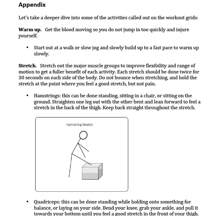 Appendix stretching