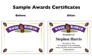 How to use the football certificate maker