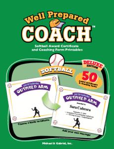 Softball Award Certificates