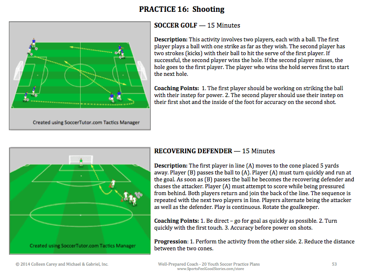 Sample activities from Youth Soccer Practice Plans