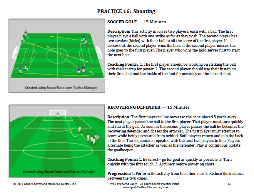 Soccer practice plans diagrams