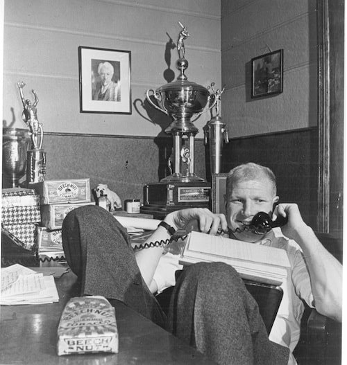 Bill Veeck in his office