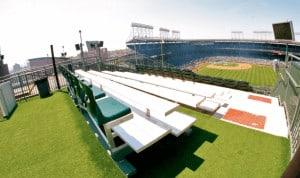 The Wrigley Rooftop Experience - view from the rooftop