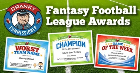 Fantasy Football Award Certificates Collection image