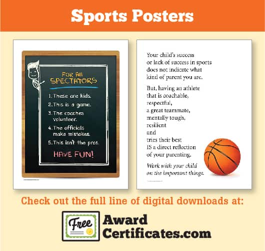 Sports Posters at Free Award Certificates image