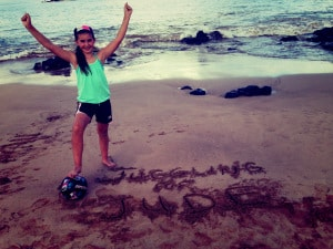 Juggling For Jude: Hollis' soccer ball was never far from her wherever she went