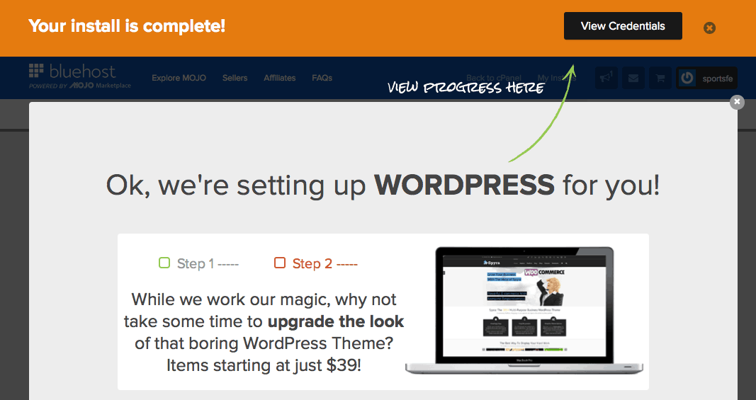 Wordpress Install Successful