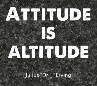 attitude is altitude saying image