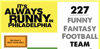 Funny Fantasy Football Team Names - 2015 image