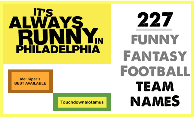 Funny Fantasy Football Team Names for 2015 image