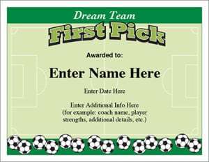 Sports team award certificate templates posters sports team award certificate templates soccer certificate image yelopaper Choice Image