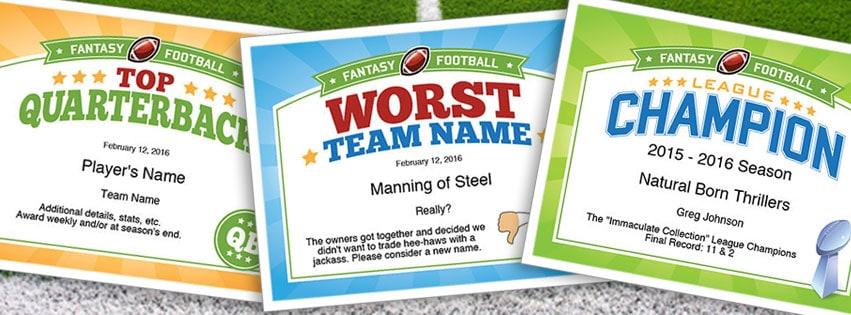 Funny fantasy football league names
