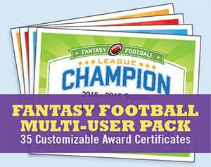 Fantasy Football Multi-User Pack button