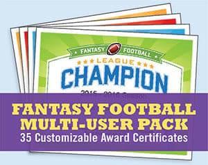 Fantasy Football Multi-User Pack button