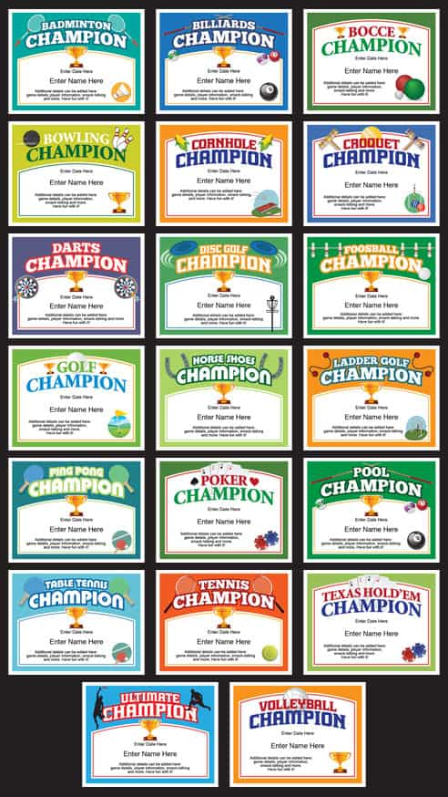 Champion certificates bundle image