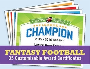 fantasy football certificate button