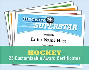 hockey certificates image