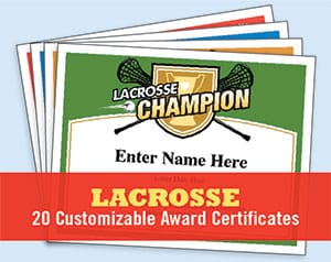 lacrosse certificates templates photo