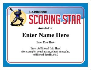 lacrosse award certificate image