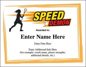 Lacrosse certificate template image