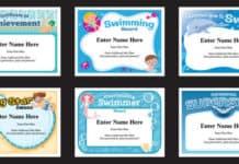 swimming certificates image