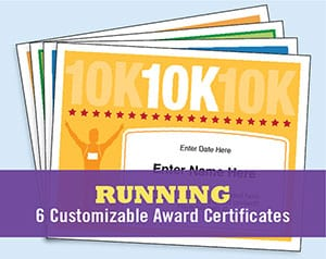 running certificates templates image