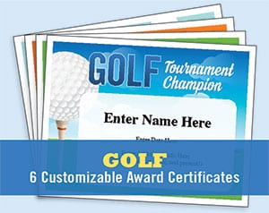 Golf certificates image