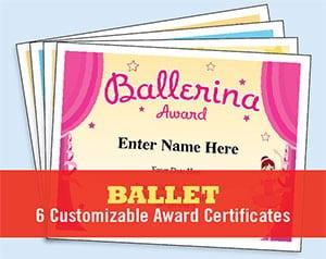 ballet certificate image