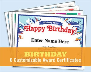 birthday certificate template image