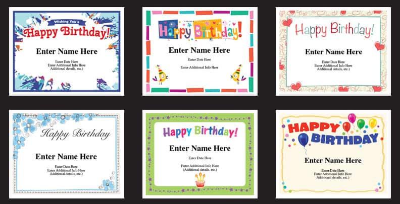 birthday certificates image