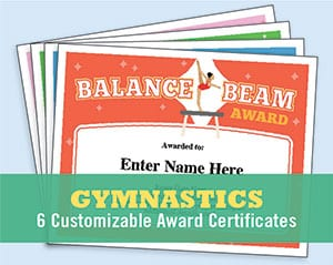 gymnastics templates for certificates image