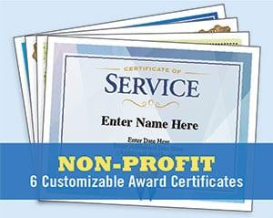 Non Profit certificates templates image