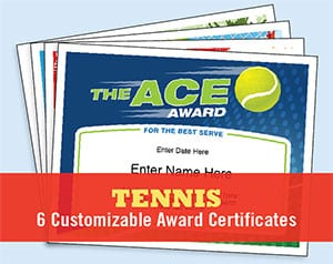tennis certificate image