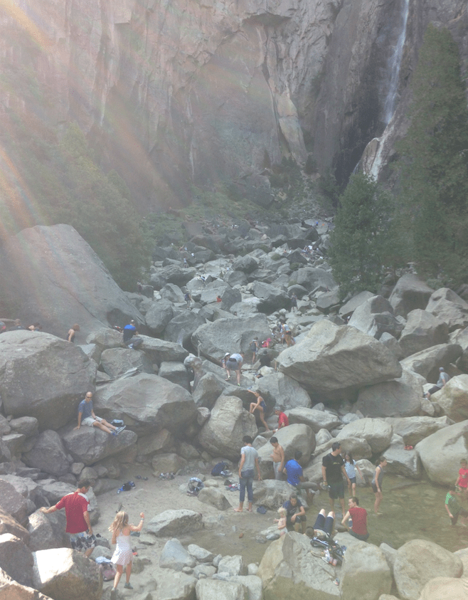 Crowded at Lower Yosemite Falls image