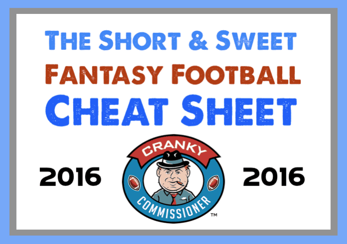 Fantasy Football Cheat Sheet image