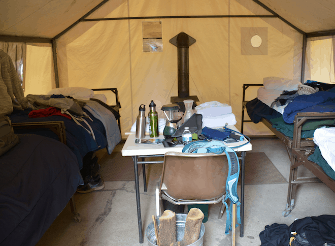 Inside tents at Tuolumne Meadows Lodge image